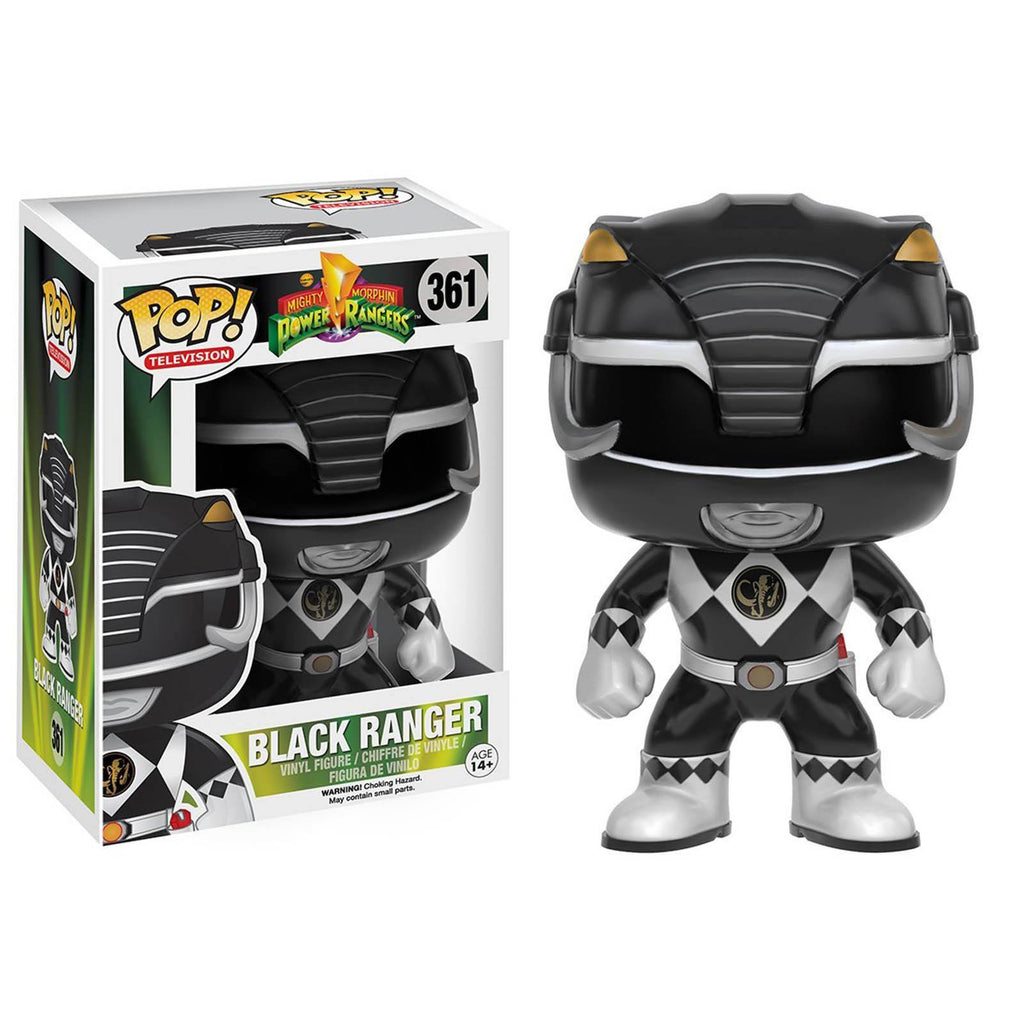 Funko Power Rangers POP Black Ranger Vinyl Figure - Radar Toys