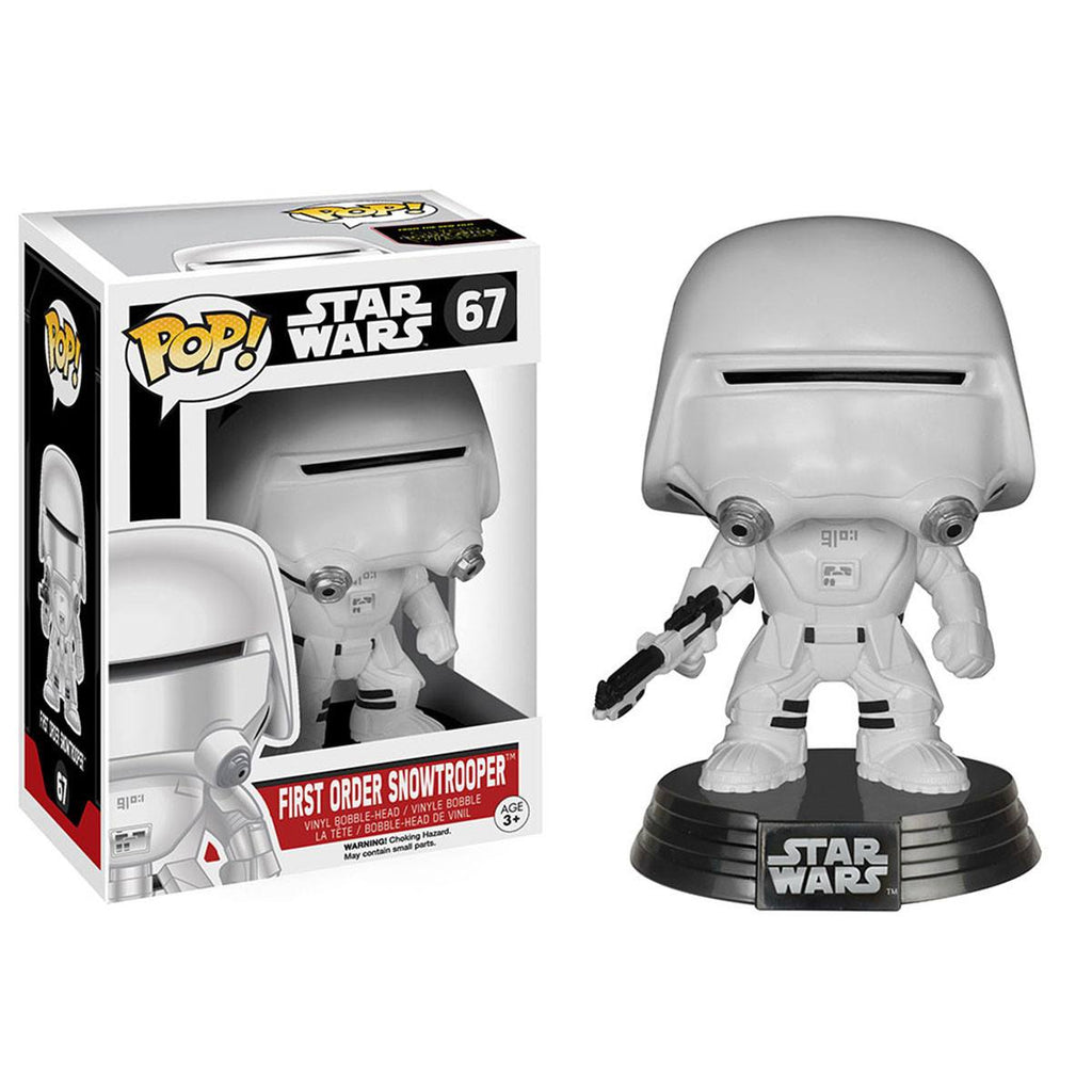 Star Wars Force Awakens POP First Order Snowtrooper Bobble Head Vinyl Figure