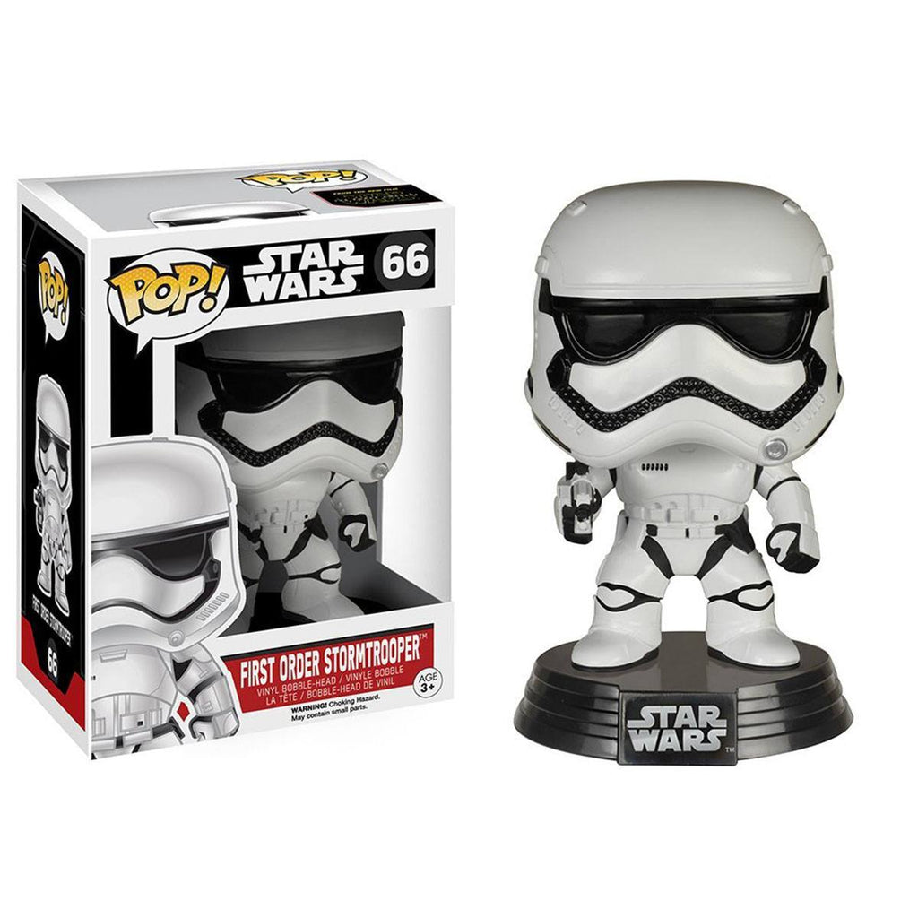 Star Wars Force Awakens POP First Order Stormtrooper Bobble Head Vinyl Figure - Radar Toys