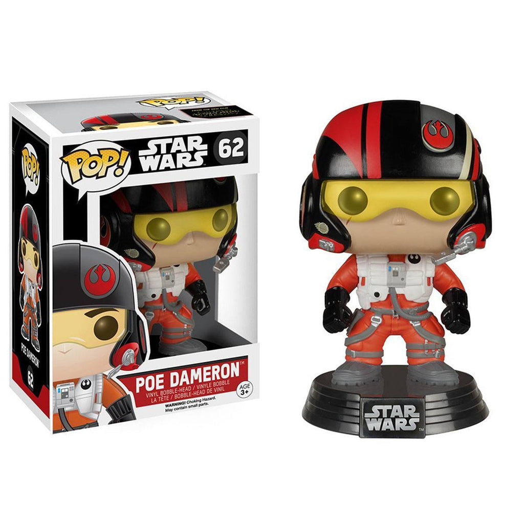 Star Wars Force Awakens POP Poe Dameron Bobble Head Vinyl Figure - Radar Toys