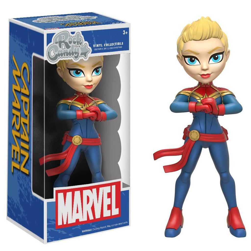 Funko Marvel Rock Candy Captain Marvel Vinyl Figure