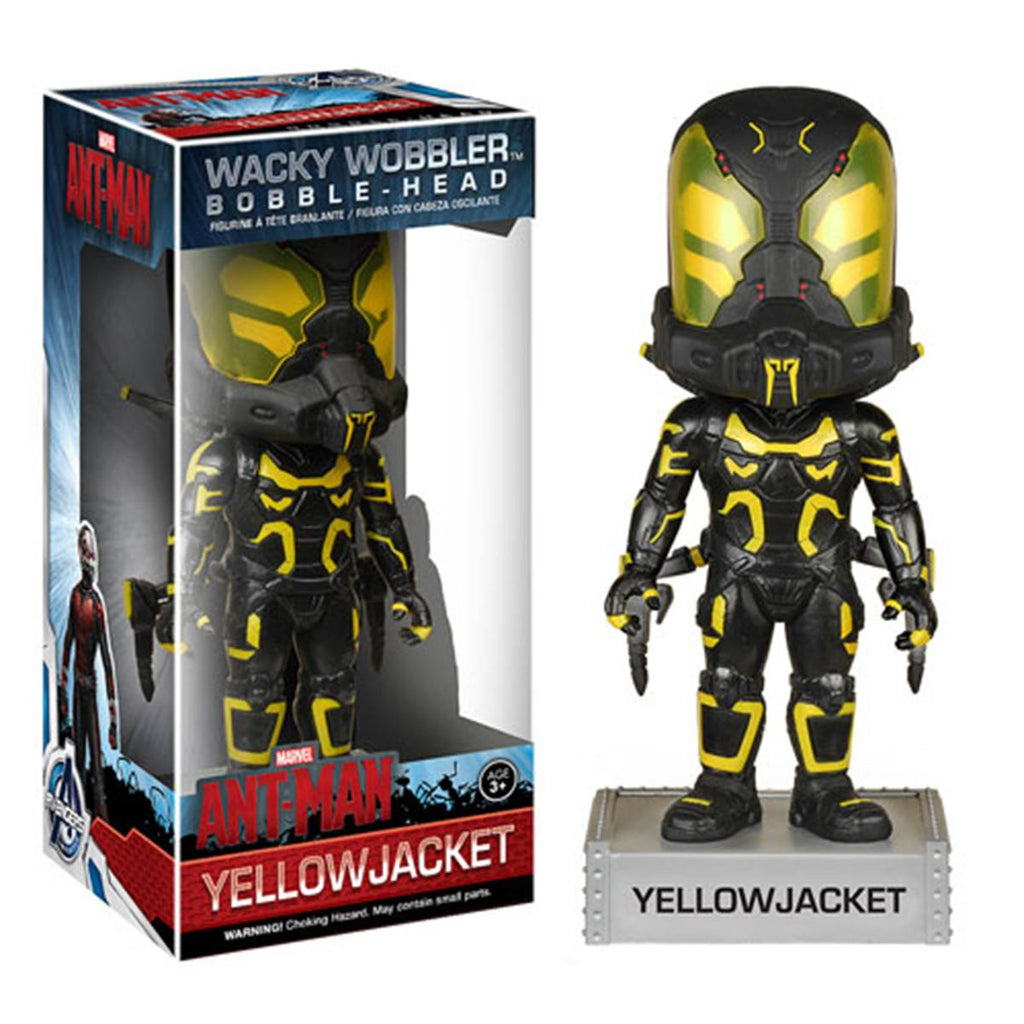 Marvel Ant-Man Wacky Wobbler Yellow Jacket Bobble Head Figure - Radar Toys