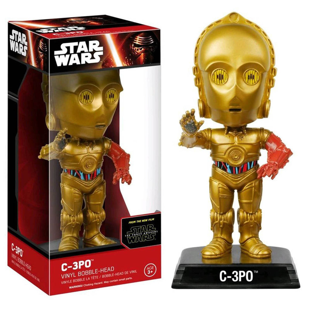 Star Wars Force Awakens Wacky Wobbler C-3PO Bobble Head Figure