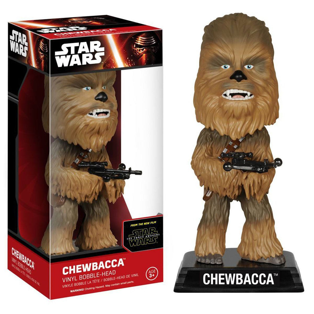 Star Wars Force Awakens Wacky Wobbler Chewbacca Bobble Head Figure