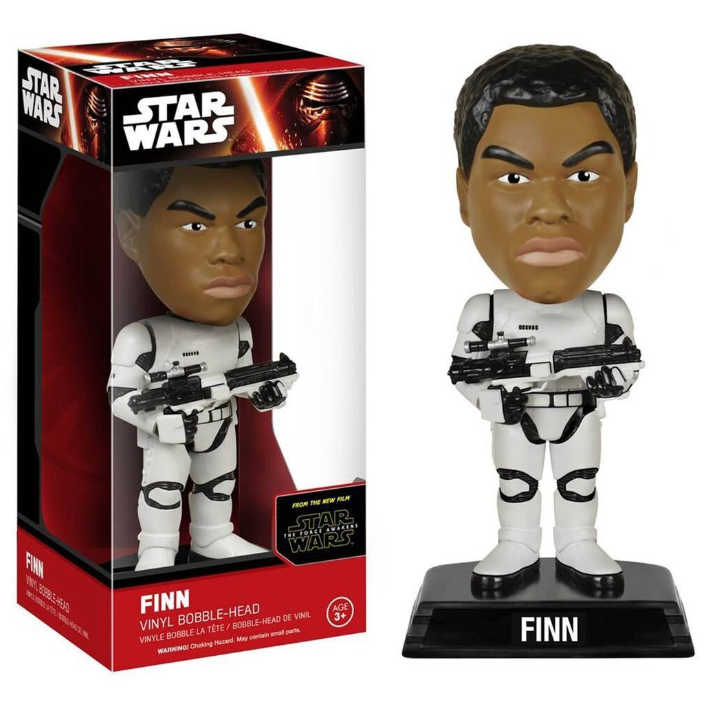 Star Wars Force Awakens Wacky Wobbler Finn Stormtrooper Bobble Head Figure - Radar Toys
