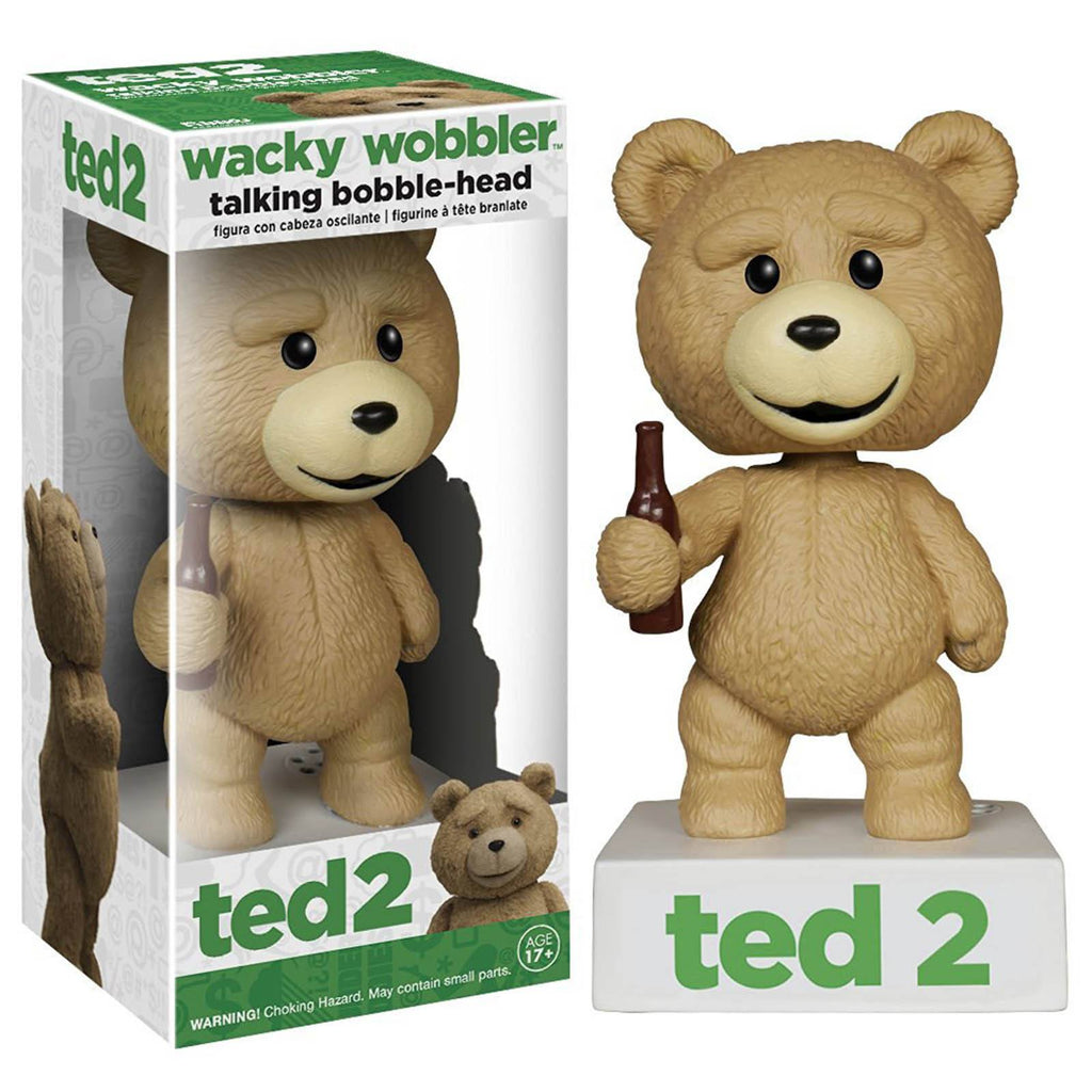 Ted Talking Wacky Wobbler Bobble Head Figure