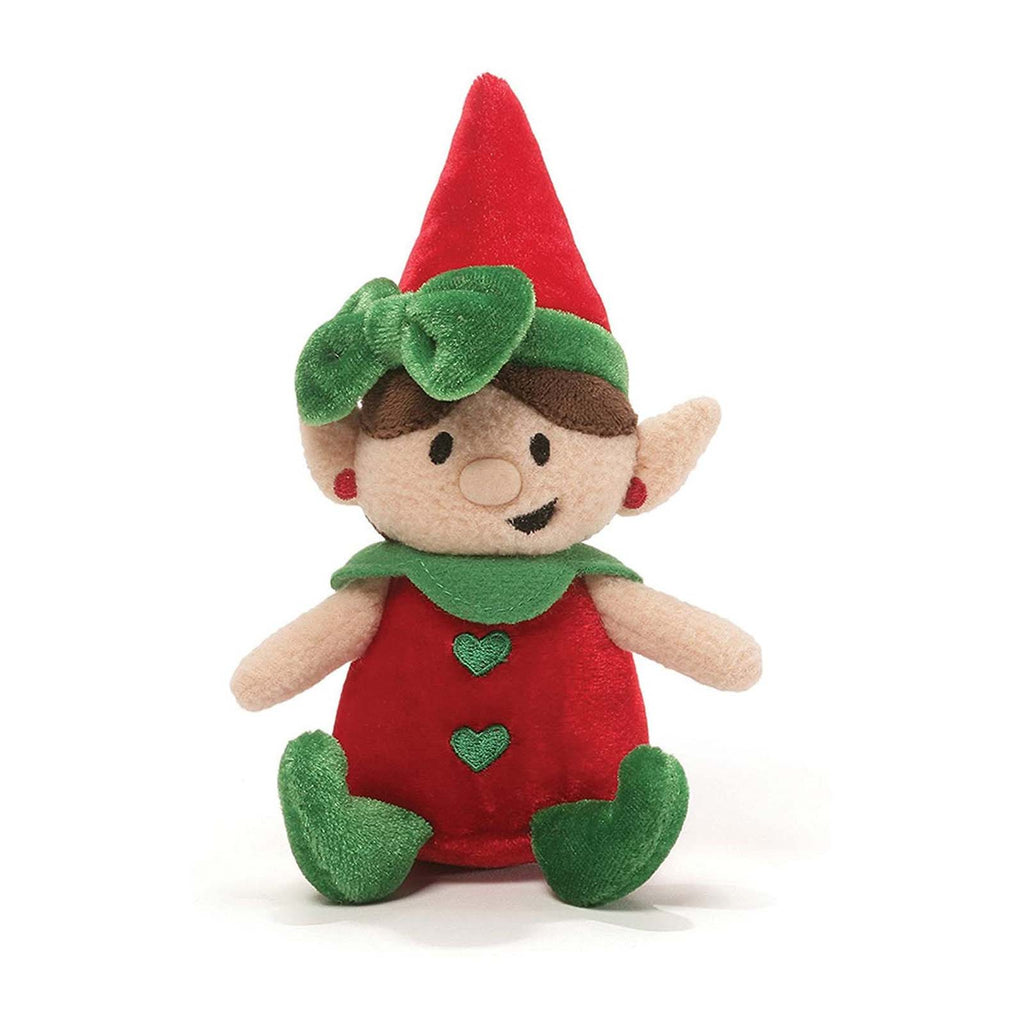 Gund Holiday Elf Gigglers Red Shirt 6 Inch Plush Figure