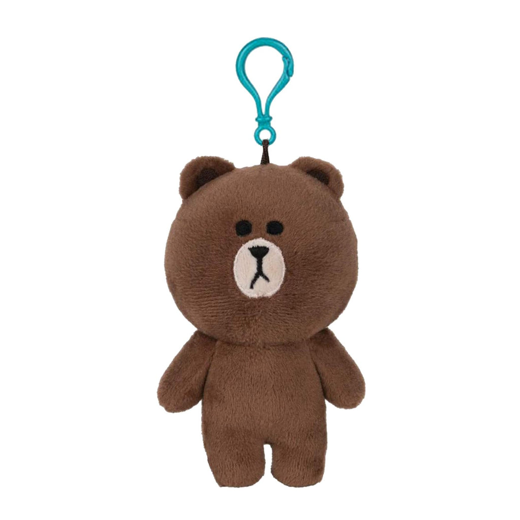 Gund Line Friends Brown Bear 5 Inch Plush Backpack Clip