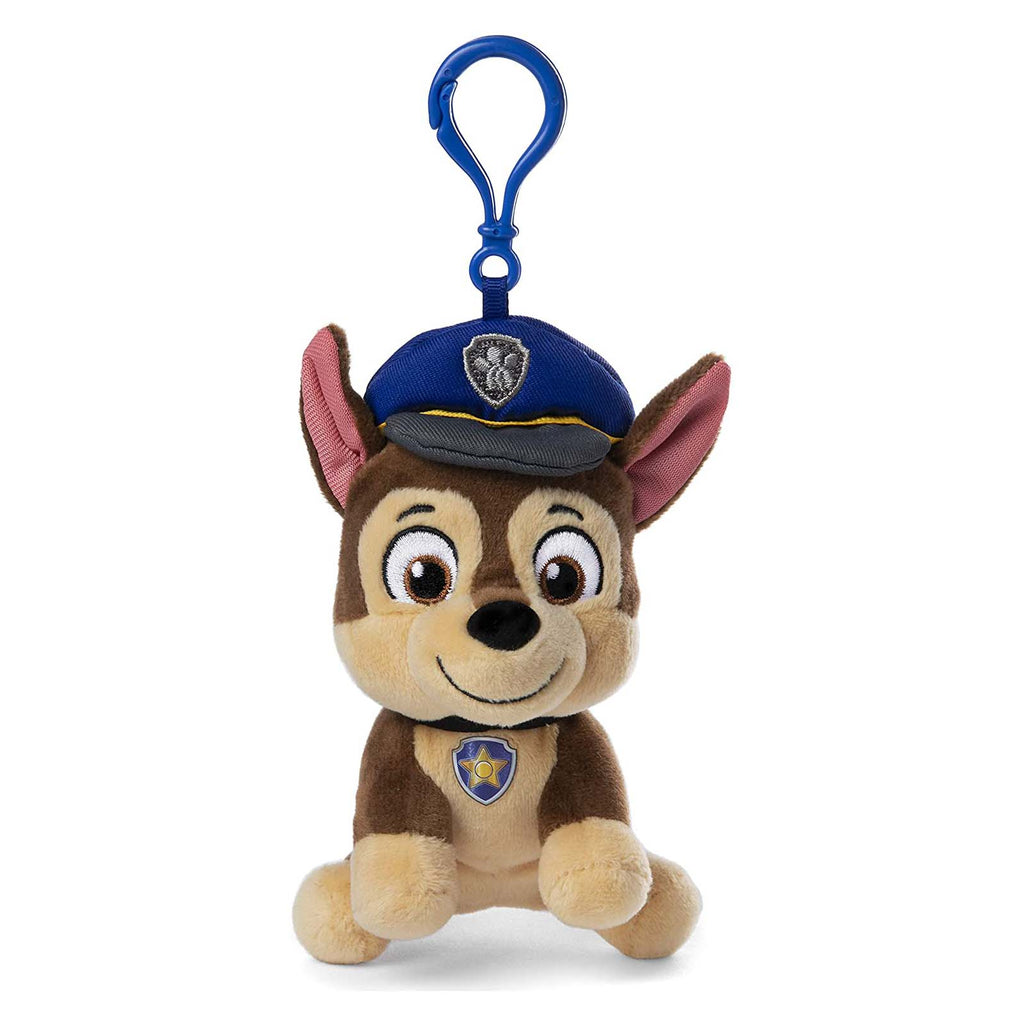 Gund Popular Culture Plush - Gund PAW Patrol Chase 4 Inch Plush Backpack Clip