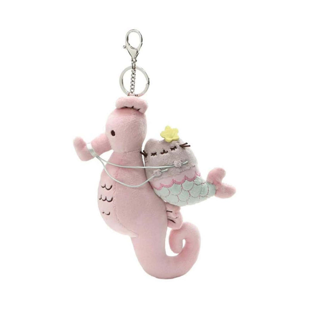 Gund Popular Culture Plush - Gund Pusheen Mermaid And Seahorse 8 Inch Plush Keychain