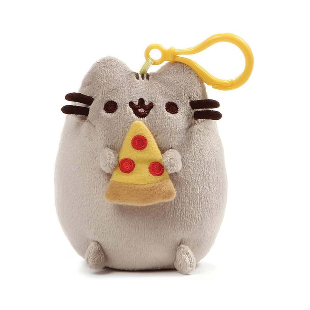 Gund Pusheen With Pizza 5 Inch Plush Backpack Clip