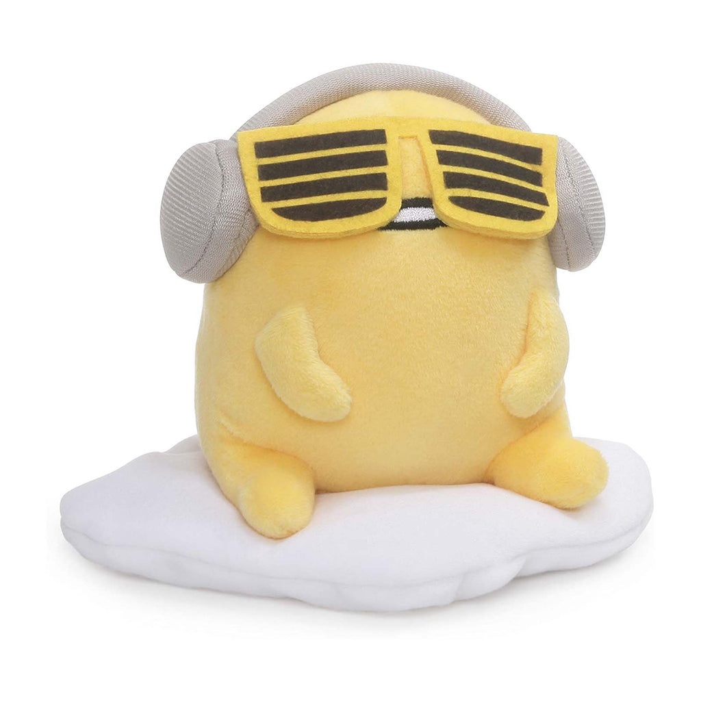Gund Popular Culture Plush - Gund Sanrio Gudetama With Headphones 5 Inch Plush Figure