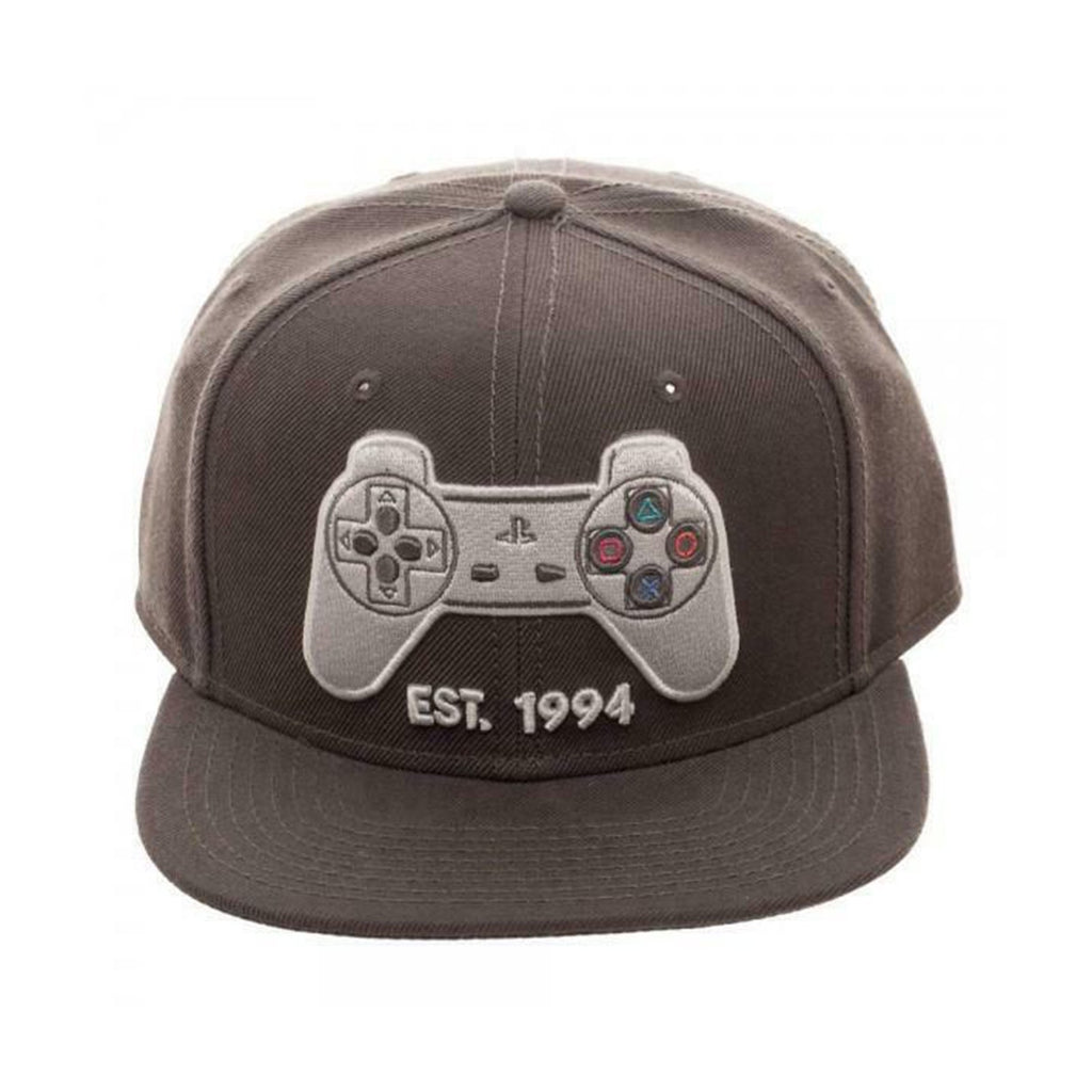 Bioworld Playstation Controller Gray Snapback Hat