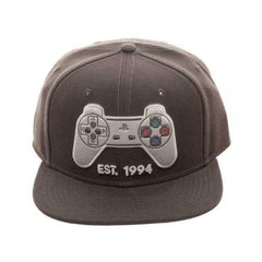 Hats - Bioworld Playstation Controller Gray Snapback Hat