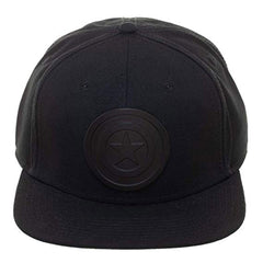 Hats - Captain America Black Logo Black Snapback Hat