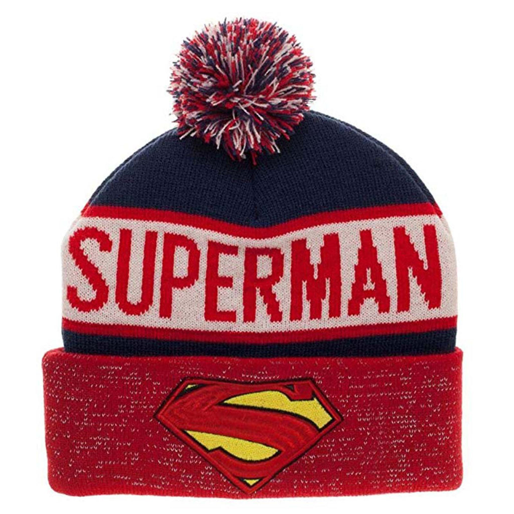 DC Superman Reflective Cuff Beanie Hat