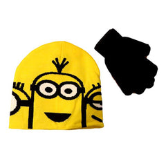 Hats - Despicable Me Minions Gloves Beanie Set