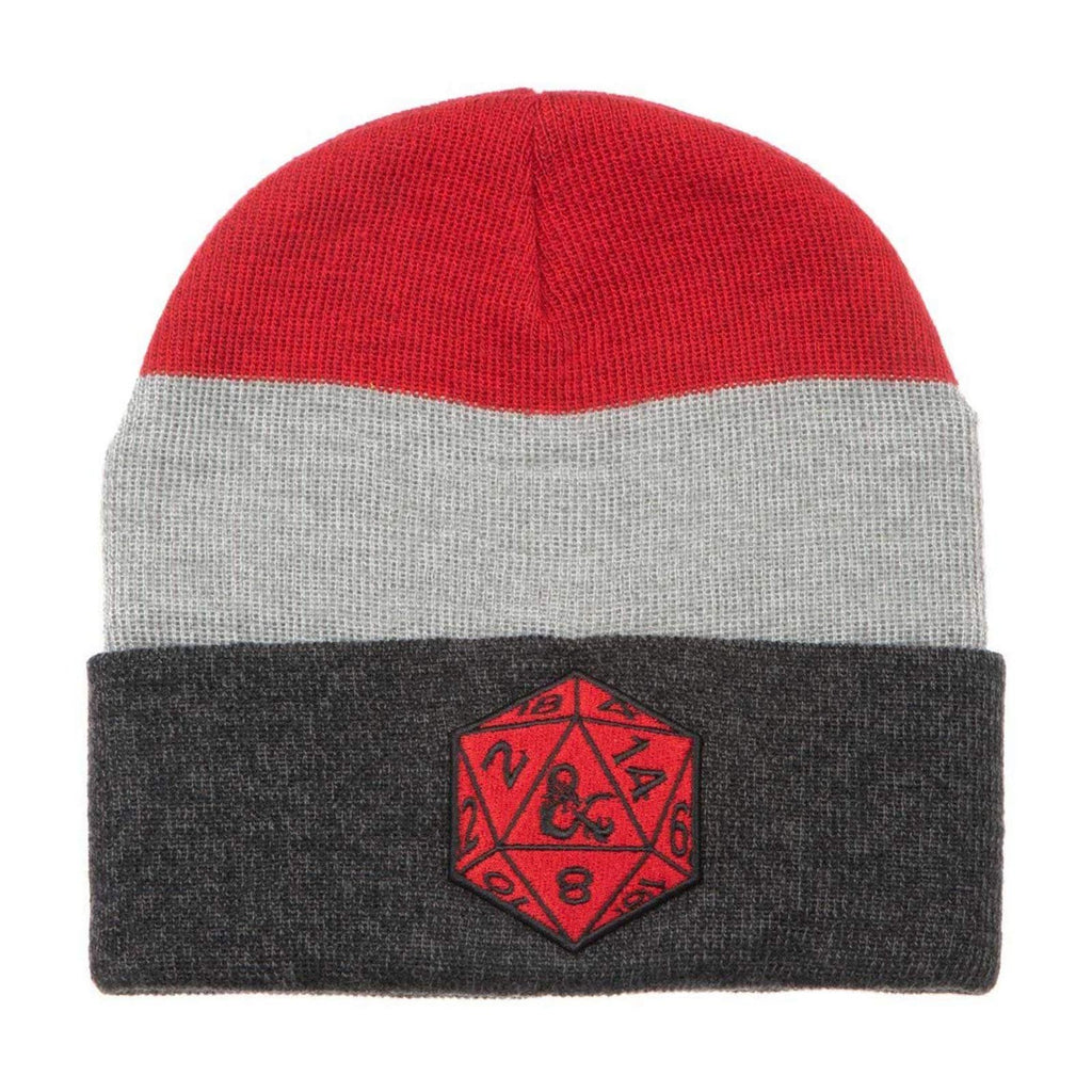Dungeons And Dragons D20 Marled Cuff Beanie