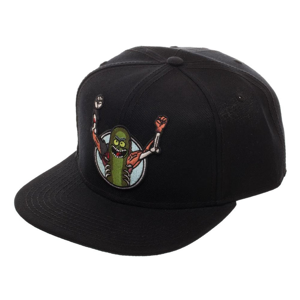 Rick And Morty Pickle Rick Core Black Snapback Hat