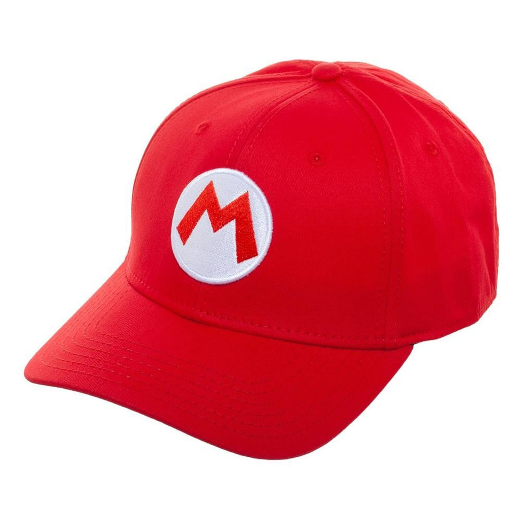 Super Mario Brothers Mario Red Stretch Fit Hat