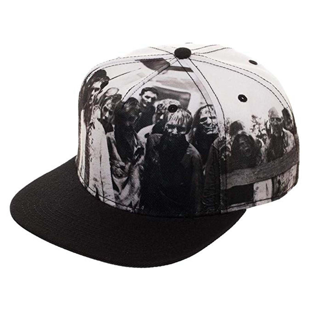 Walking Dead Walkers Black And White Adjustable Snapback Hat