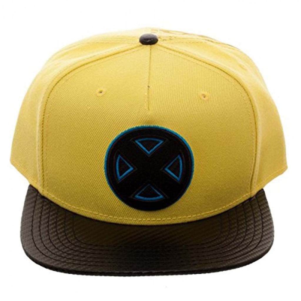 X-Men Carbon Fiber Logo Yellow Snapback Hat