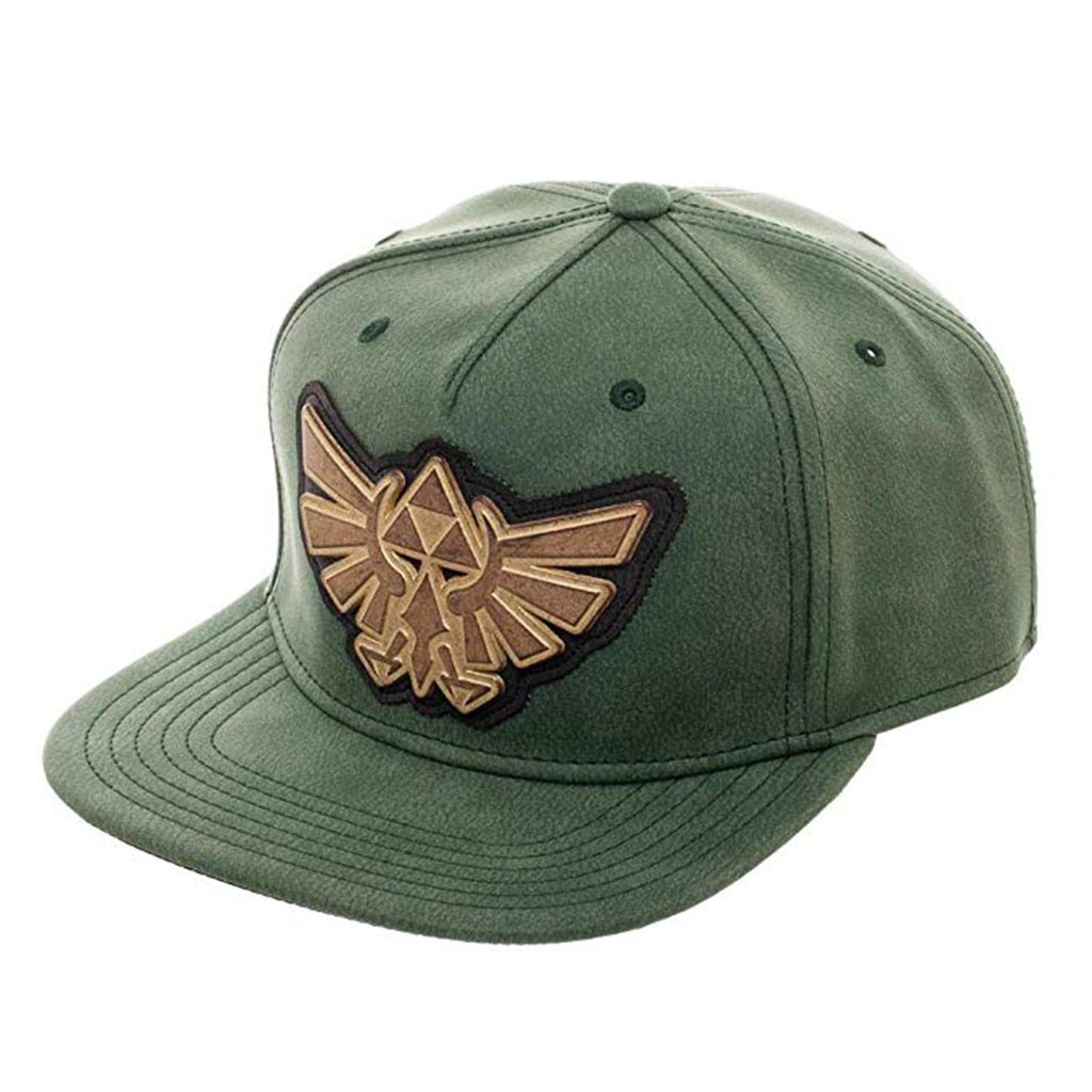 Zelda Distressed Metal Logo Green Adjustable Snapback Hat