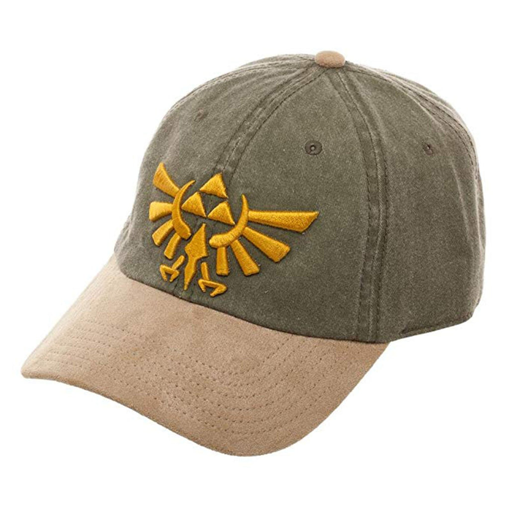 Zelda Green Dyed Suede Curved Bill Hat