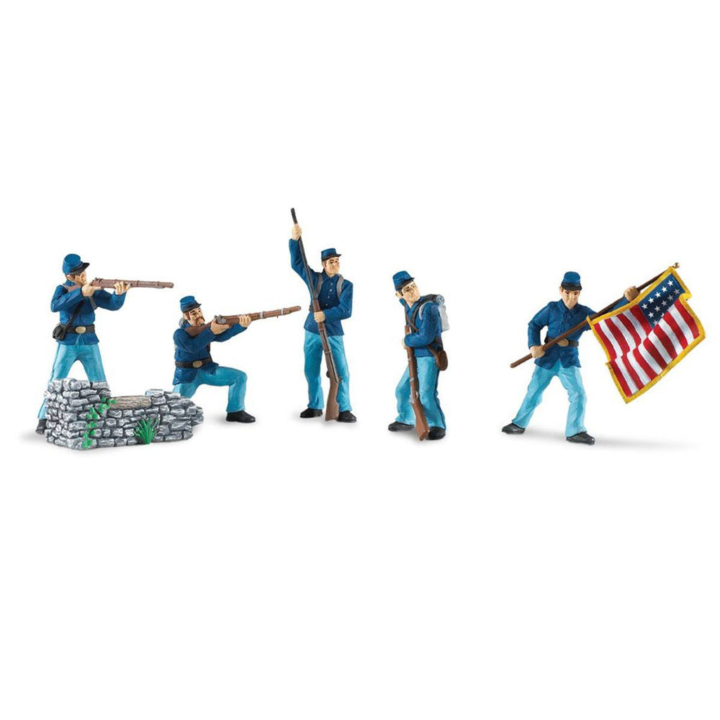 Civil War Union Soldiers Collection 1 Toob Mini Figures Safari Ltd