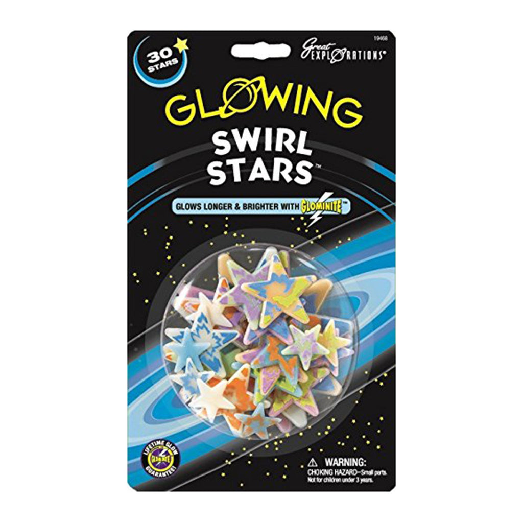 Great Explorations Glowing Swirl Stars Set