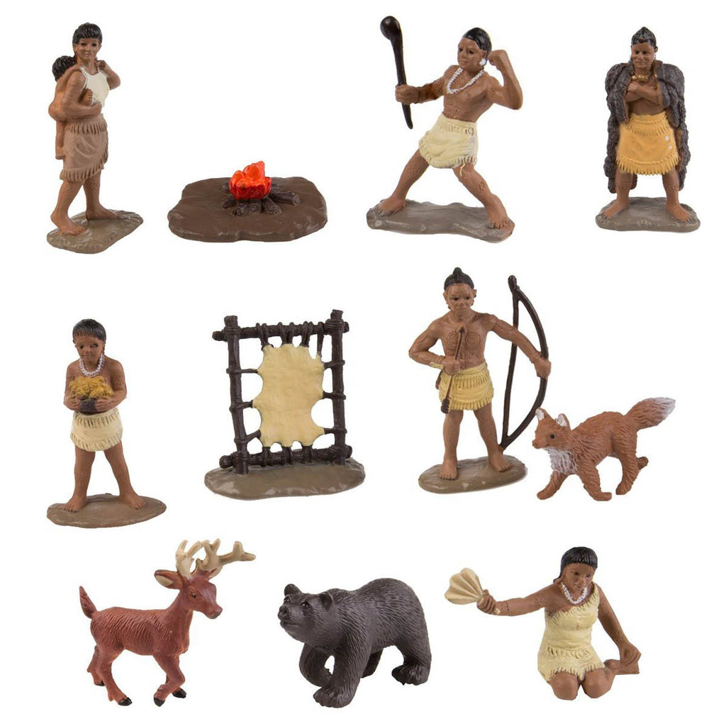 Powhatan Indians Bulk Bag Mini Figures Safari Ltd