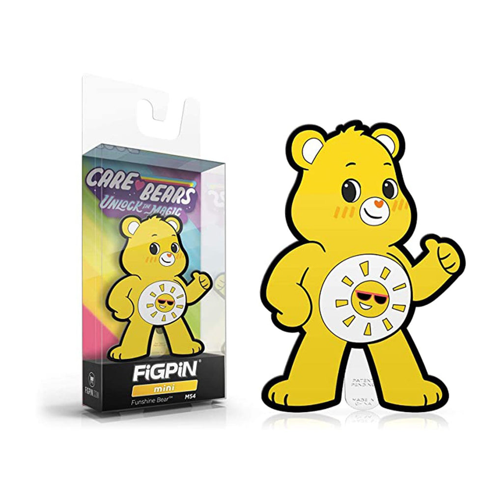Figpin Mini Care Bears Unlock Magic Funshine Bear Collectible Pin #M54