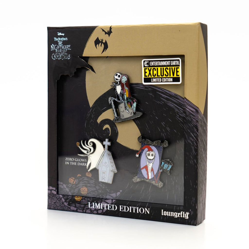 Loungefly Nightmare Before Christmas EE Exclusive 3 Pin Set