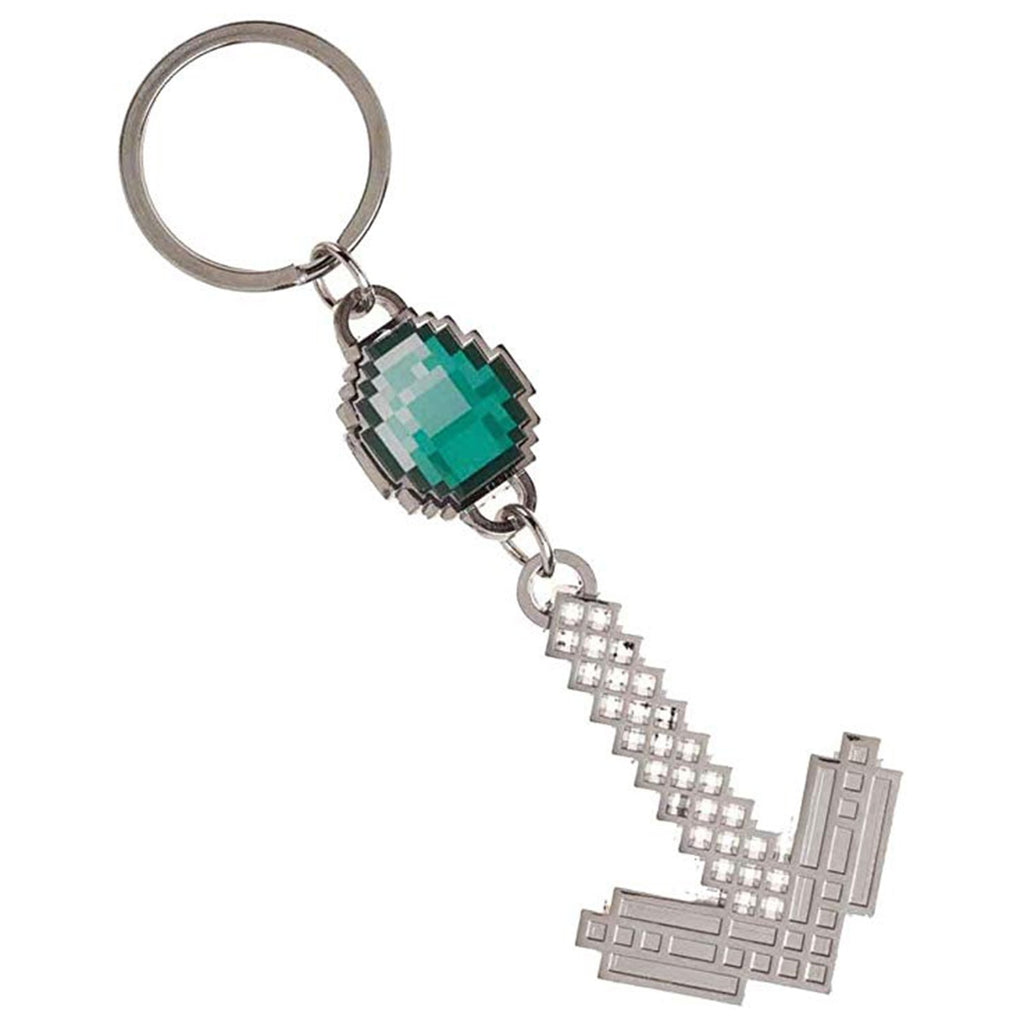 Minecraft Diamond Gem Pickaxe Keychain