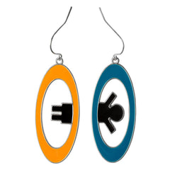 Portal 2 Inter-Spatial Portal Earrings - Radar Toys