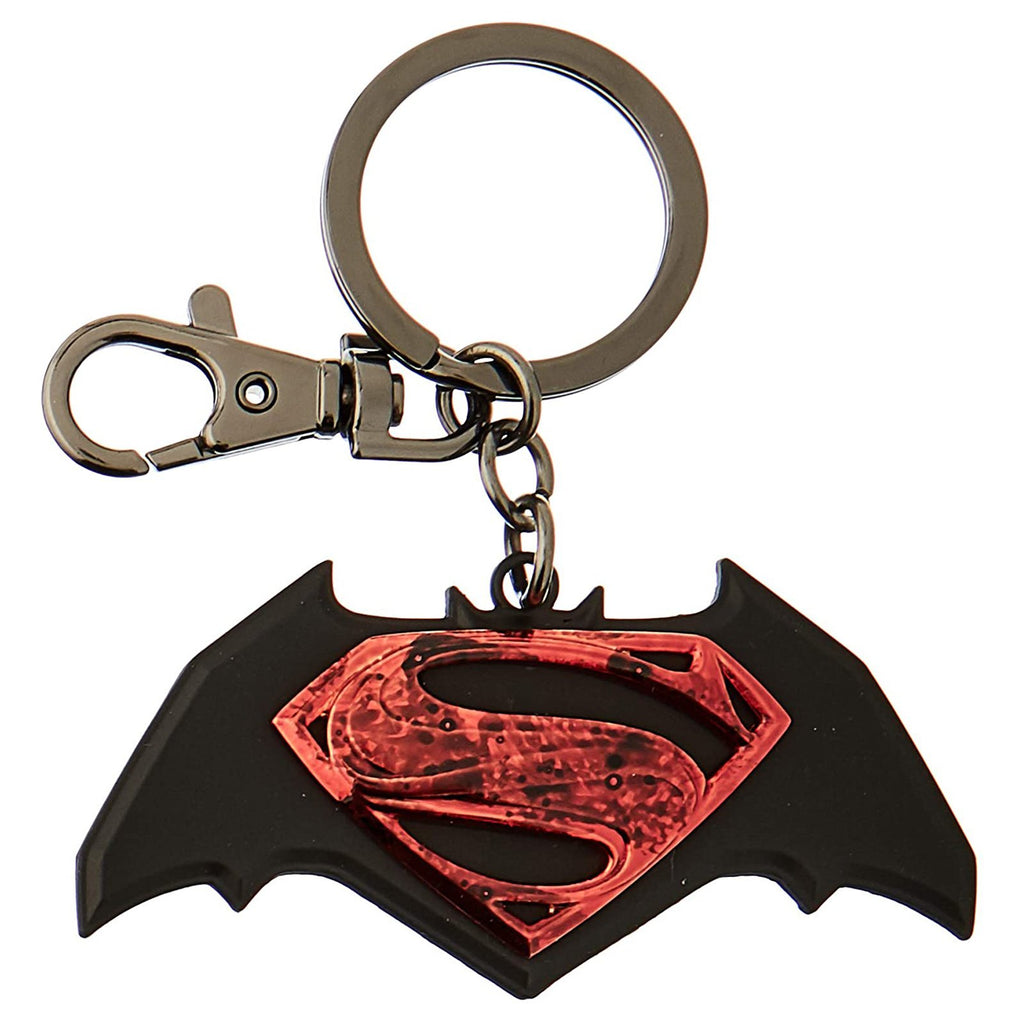 Batman Vs Superman Colored Logo Metal Keychain