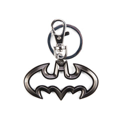 Keychain - DC Batman Logo Cut Out Pewter Metal Keychain