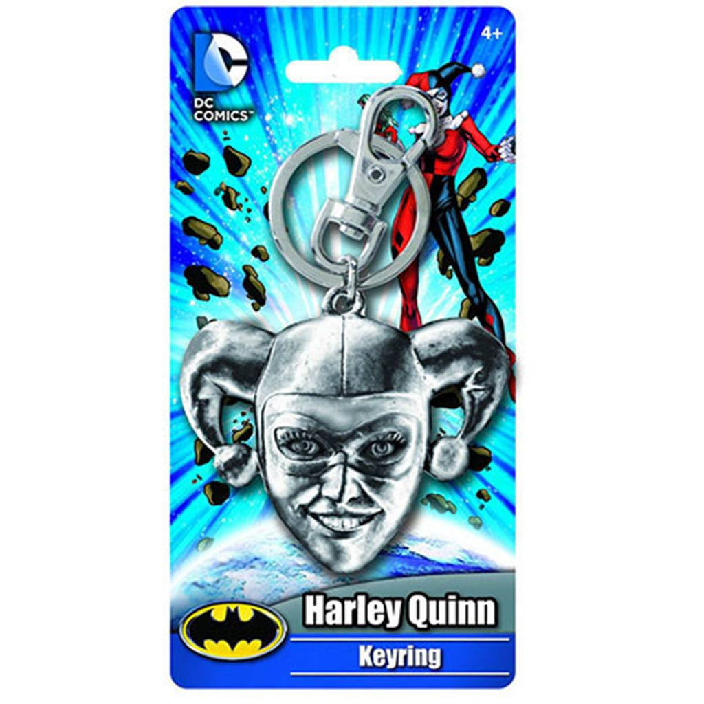DC Comics Batman Harley Quinn Head Keychain