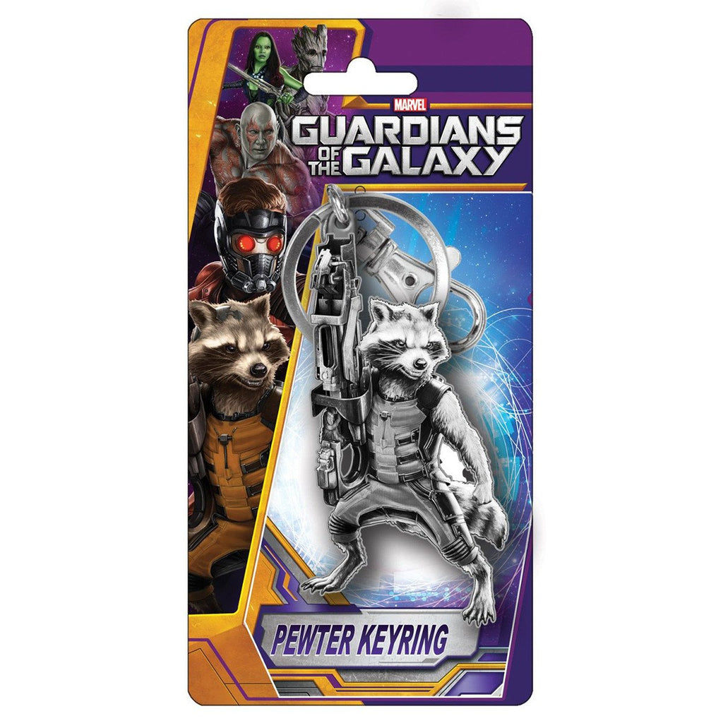 Guardians of the Galaxy Rocket Raccoon Pewter Keychain