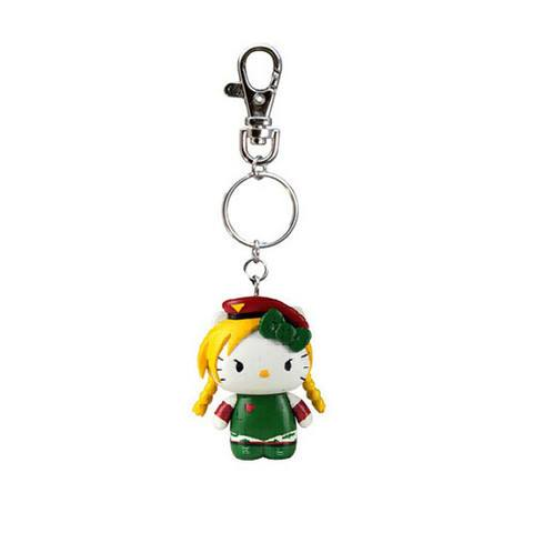 Hello Kitty Street Fighter Cammy Figure Keychain