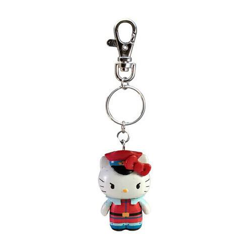 Hello Kitty Street Fighter M Bison Figure Keychain