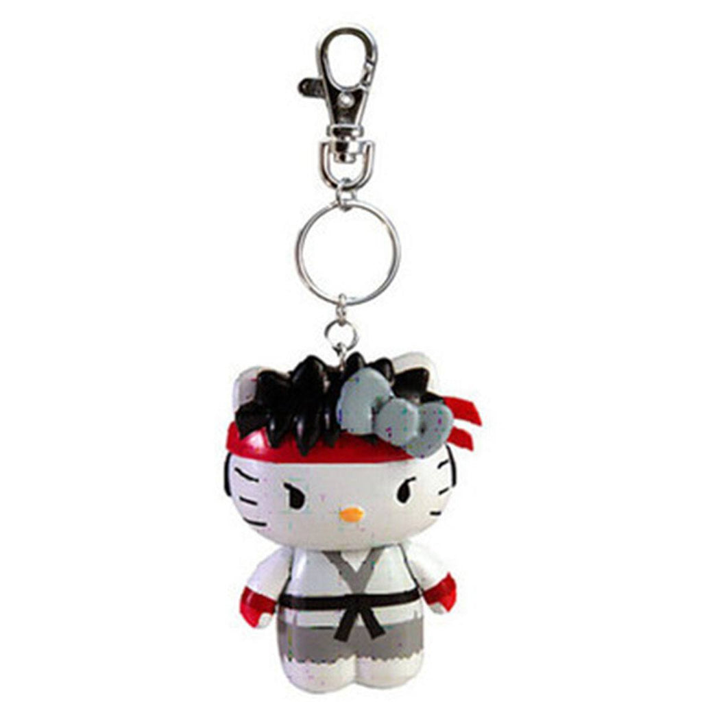 Hello Kitty Street Fighter Ryu Figure Keychain