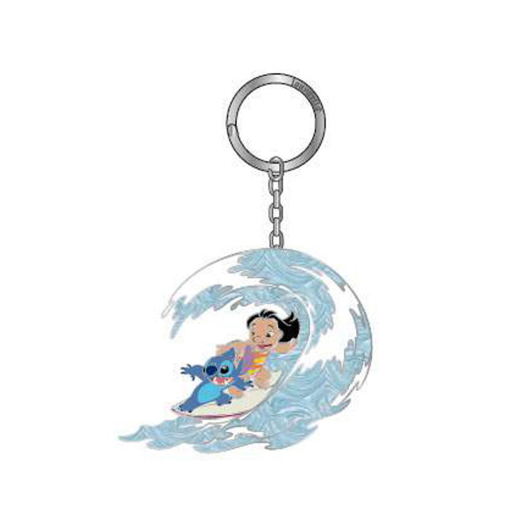 Loungefly Lilo And Stitch Surfing Metal Keychain