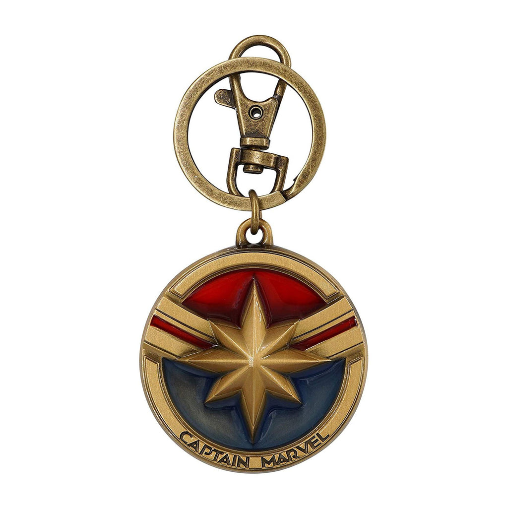 Keychain - Marvel Captain Marvel Colored Insignia Metal Keychain