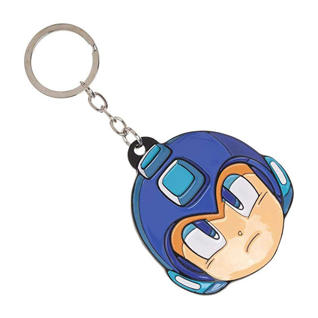 Mega Man Head Colored Metal Keychain