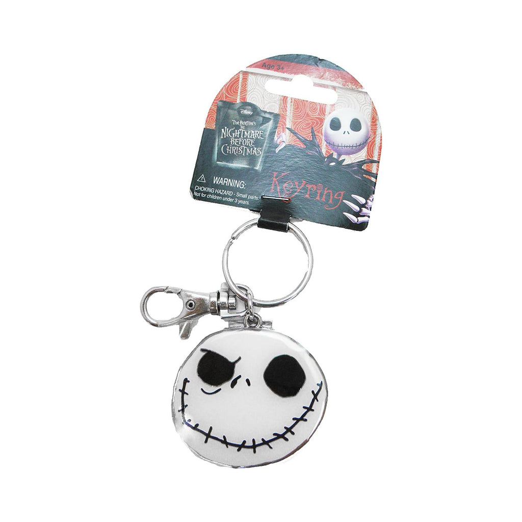 Nightmare Before Christmas Jack Good & Bad Day Colored Metal Keychain