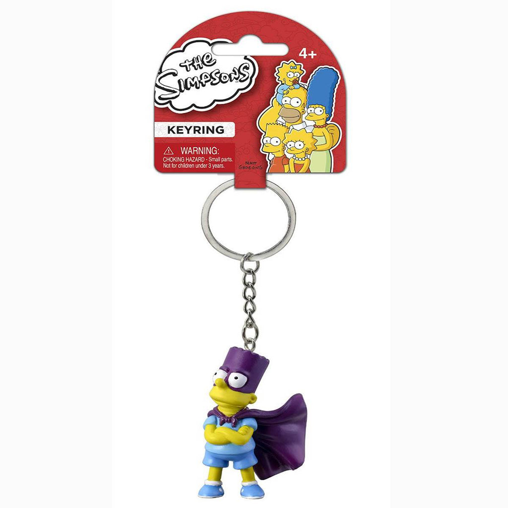Simpsons Bart In Costume Figure Keychain