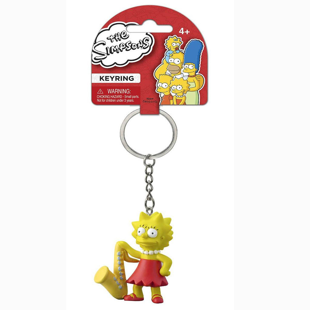 Simpsons Lisa With Saxamaphone Figure Keychain