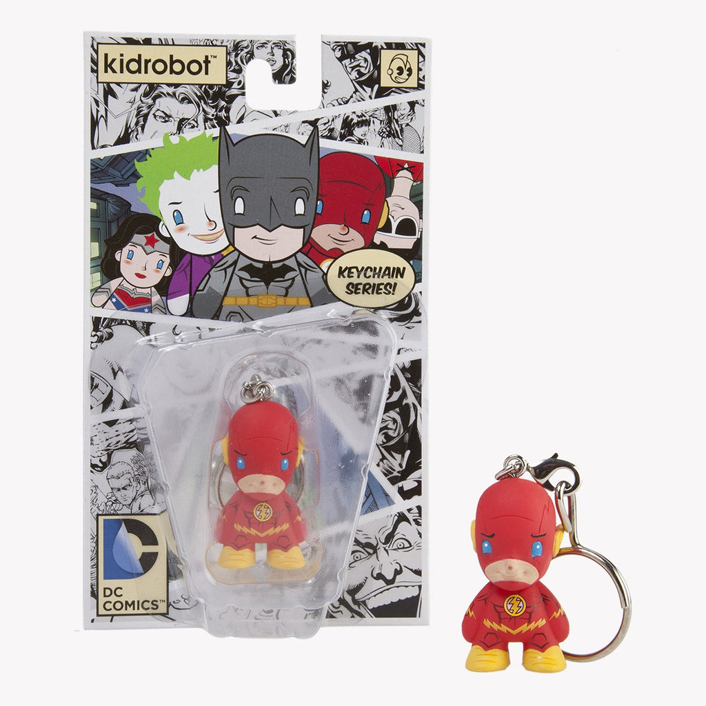 Kidrobot DC Comics Flash Vinyl Figure Keychain