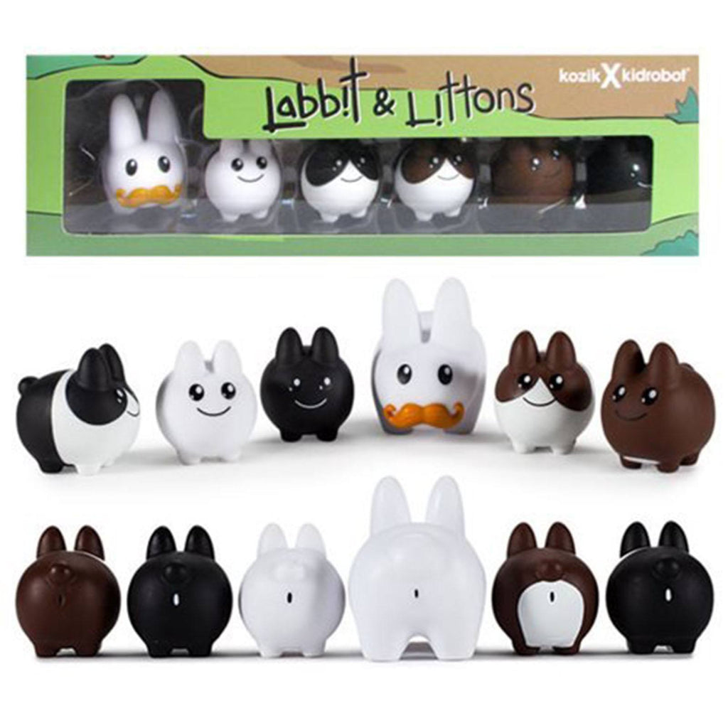 Kidrobot Labbit With Littons 6 Pack Vinyl Figures